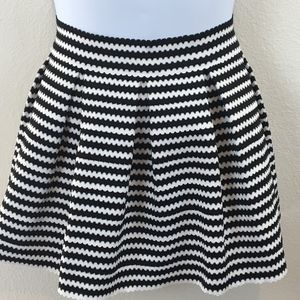 Express Rubber Blend Pleated Structured Skirt SZ M
